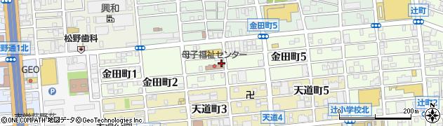愛知県名古屋市北区金田町周辺の地図