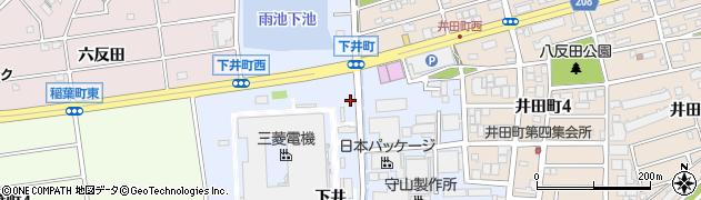 愛知県尾張旭市下井町(前の上)周辺の地図