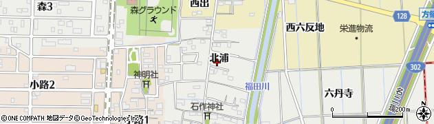 愛知県あま市石作(北浦)周辺の地図