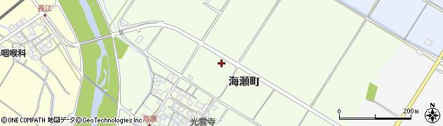滋賀県彦根市海瀬町周辺の地図