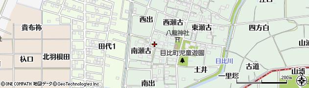 愛知県稲沢市目比町(南瀬古)周辺の地図
