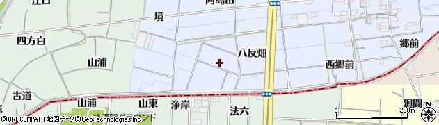 愛知県稲沢市南麻績町(八反畑)周辺の地図