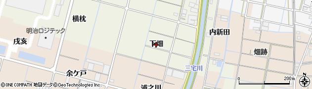 愛知県稲沢市平和町下三宅(下畑)周辺の地図