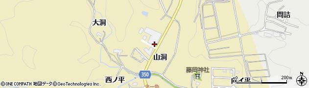 愛知県豊田市北一色町(山洞)周辺の地図