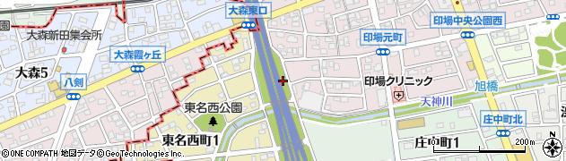 愛知県尾張旭市印場元町(細田)周辺の地図