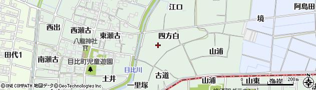 愛知県稲沢市目比町(四方白)周辺の地図