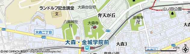 大森寺周辺の地図