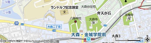 八剱神社周辺の地図