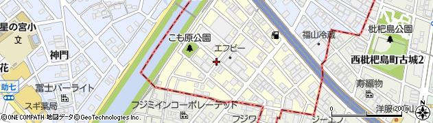 愛知県名古屋市西区こも原町周辺の地図