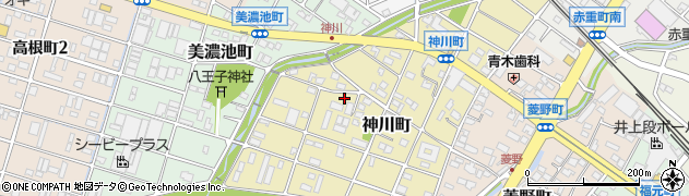 愛知県瀬戸市神川町周辺の地図