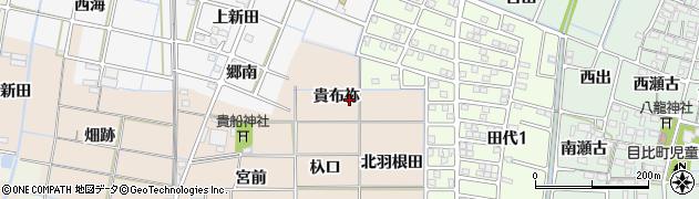 愛知県稲沢市氷室町(貴布祢)周辺の地図