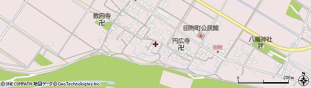 滋賀県彦根市田附町周辺の地図