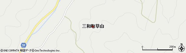 京都府福知山市三和町草山周辺の地図