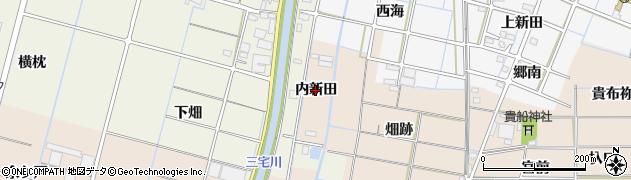 愛知県稲沢市氷室町(内新田)周辺の地図