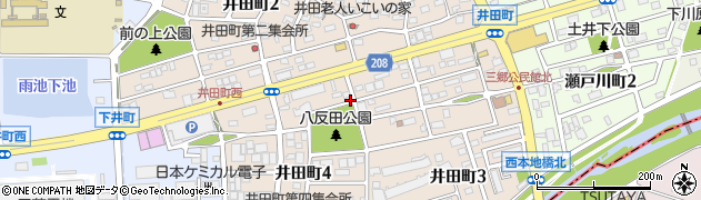 愛知県尾張旭市井田町周辺の地図
