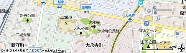 大永寺周辺の地図