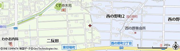 愛知県尾張旭市西の野町(豆塚)周辺の地図