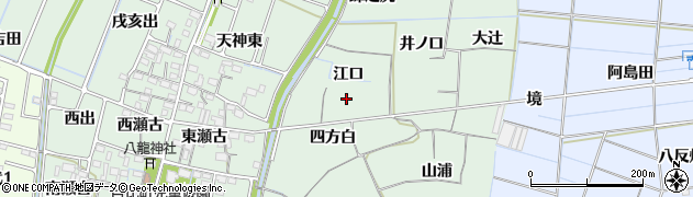 愛知県稲沢市目比町(江口)周辺の地図
