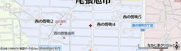 愛知県尾張旭市西の野町周辺の地図