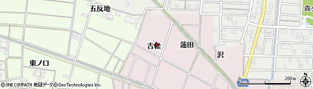 愛知県あま市古道吉松周辺の地図