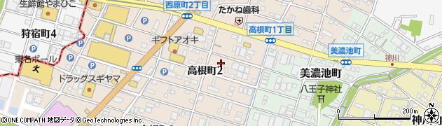 愛知県瀬戸市高根町周辺の地図