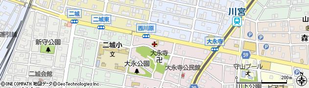 サガミ 守山大永寺店周辺の地図