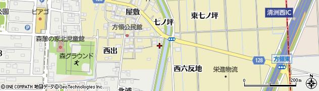 愛知県あま市方領(杉ノ本)周辺の地図