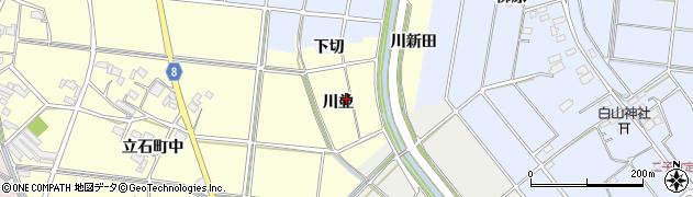 愛知県愛西市立石町(川並)周辺の地図