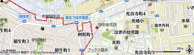 愛知県名古屋市北区桝形町周辺の地図
