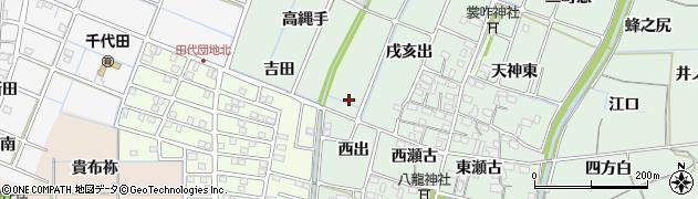 愛知県稲沢市目比町(西出)周辺の地図