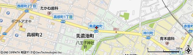愛知県瀬戸市美濃池町周辺の地図