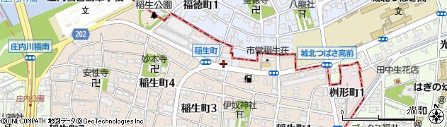 愛知県名古屋市西区稲生町(杁先)周辺の地図
