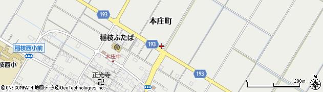 滋賀県彦根市本庄町周辺の地図