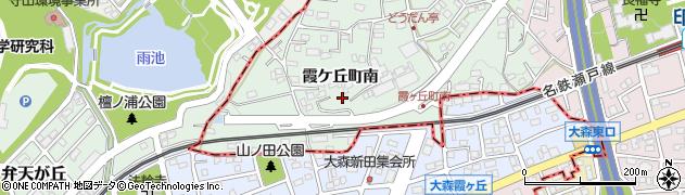 愛知県尾張旭市霞ケ丘町(南)周辺の地図