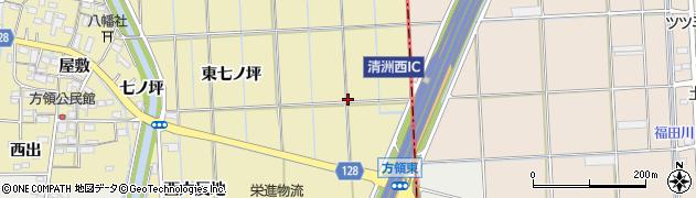 愛知県あま市方領(五反地)周辺の地図