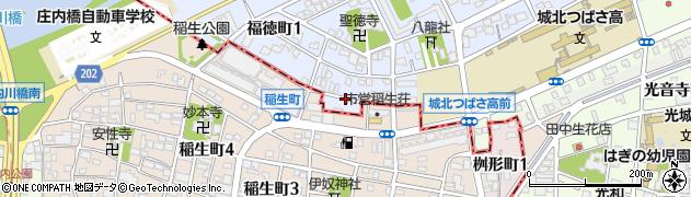 愛知県名古屋市北区福徳町(孫六)周辺の地図