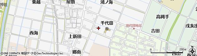 愛知県稲沢市坂田町(貴船)周辺の地図