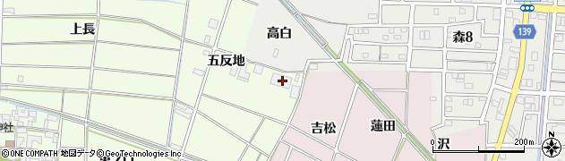 愛知県あま市二ツ寺(五反地)周辺の地図