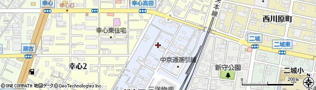 愛知県名古屋市守山区新守西周辺の地図