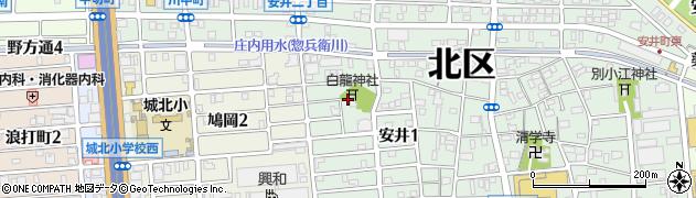 白龍神社周辺の地図