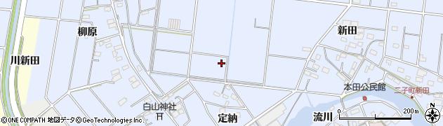 愛知県愛西市二子町周辺の地図