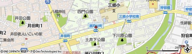 愛知県尾張旭市瀬戸川町周辺の地図