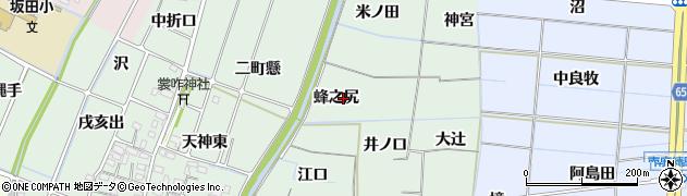 愛知県稲沢市目比町(蜂之尻)周辺の地図