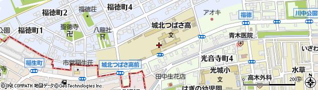 愛知県名古屋市北区光音寺町周辺の地図