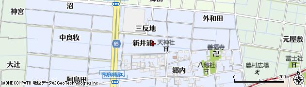 愛知県稲沢市南麻績町(新井浦)周辺の地図
