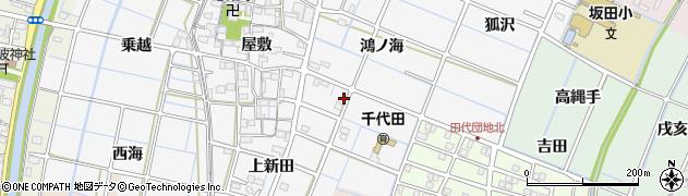 愛知県稲沢市坂田町周辺の地図