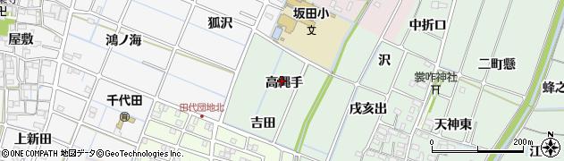 愛知県稲沢市目比町(高縄手)周辺の地図