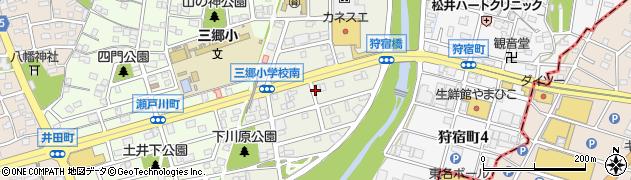 愛知県尾張旭市狩宿新町周辺の地図