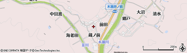 愛知県豊田市木瀬町(蔵ノ前)周辺の地図