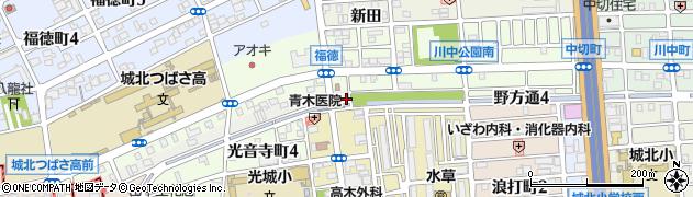 愛知県名古屋市北区野方通周辺の地図